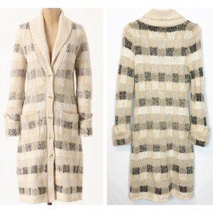 Anthropologie -  'Bent Plaid' Sweater-coat
